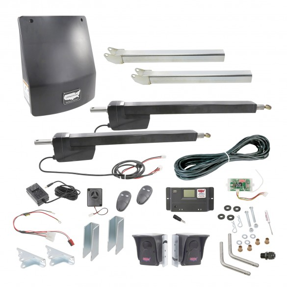Ranger HD Dual Gate AC Charged Swing Gate Operator w/ Radio Controls - USAutomatic 020517