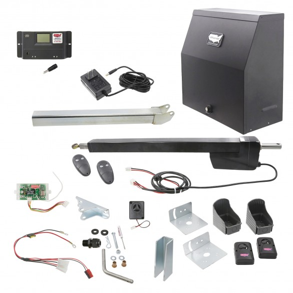 Ranger HD Single Gate AC Charged Swing Gate Operator w/ Radio Controls (Galvanized) - USAutomatic 020520