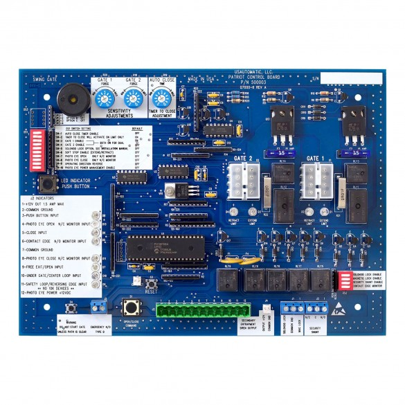 Patriot Swing Gate Operator Control Board (UL325 2018) - USAutomatic 500003