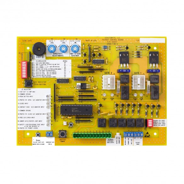Patriot RSL Slide Gate Operator Control Board (UL325 2018) - USAutomatic 500017