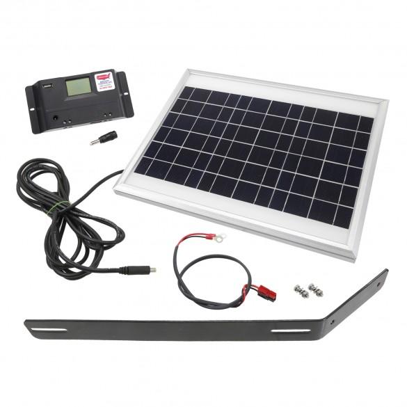 USAutomatic Solar Kit (10 Watt Solar Panel, Mounting Bracket, Charge Controller, Harness) - 520002