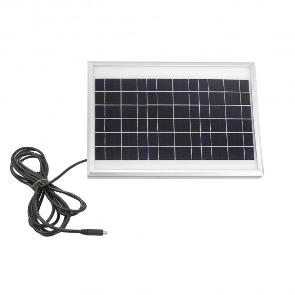 USAutomatic 10 Watt Solar Panel Kit (Solar Panel, Mounting Bracket, DC Power Plug) - 520026