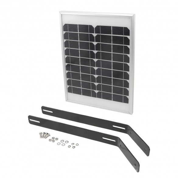 USAutomatic 20 Watt Solar Panel Kit (Solar Panel, Mounting Bracket, DC Power Plug) - 520030