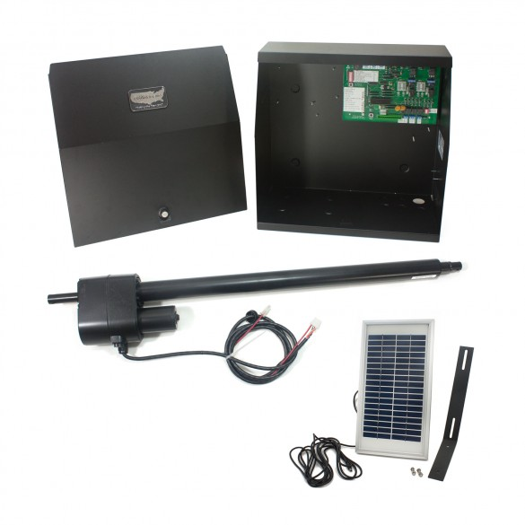 Patriot I Solar Charged Single Swing Gate Operator with Solar Panel
