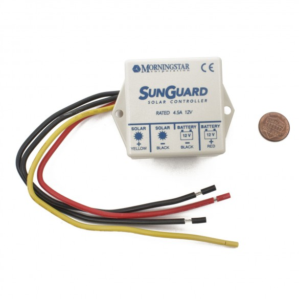 USAutomatic 520018 Morningstar SunGuard Charge Controller (penny shown for scale)
