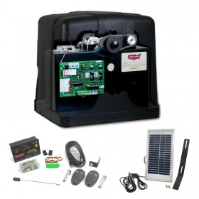 Patriot RSL Solar Charged Slide Gate Operator with Photo Eye, LCR Receiver, 2 Transmitters & Solar Panel - USAutomatic 020430