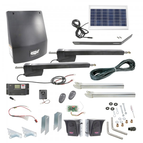 Ranger HD Dual Gate Solar Charged Swing Gate Operator w/ Radio Controls - USAutomatic 020519