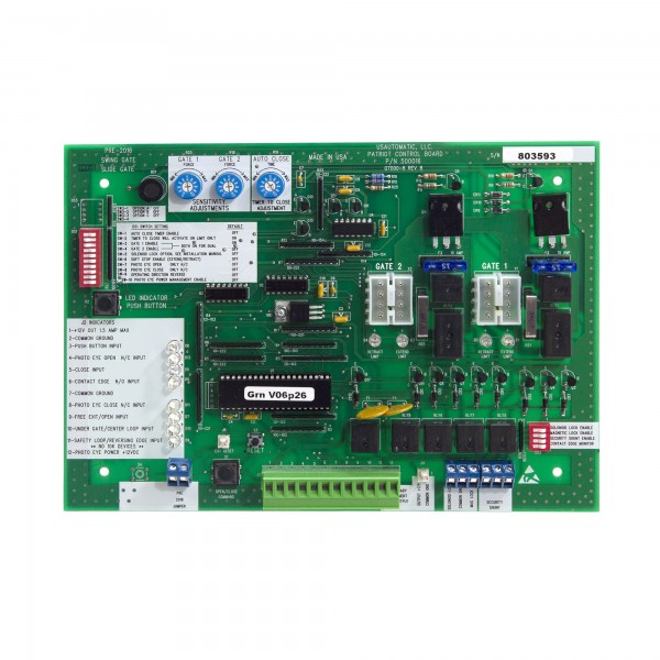 Replacement Control Board For Patriot Gate Openers (UL325 2016) - USAutomatic 500016