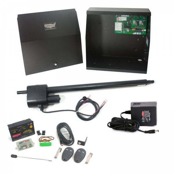 Patriot I AC Charged Single Swing Gate Operator with LCR Receiver & 2 Transmitters